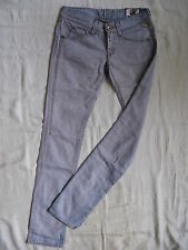 Replay Damen Jeans Mauve Denim W28/L34 xtra low waist slim fit straight slim leg