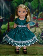 """""""Evening Outing"""" Dress Outfit for American Girl Wellie Wishers Hearts for Hearts"""