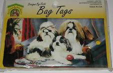 Shih Tzu Bag Tag Silicone Suitcase Travel Luggage Dogs USA Made New Puppies