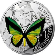 Niue 2012 $1 Butterflies - Ornithoptera Goliath 28.28g Silver Proof Coin