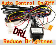 Reduce Brightnes LED Daytime Running Light DRL Relay Harness Auto Control On/Off