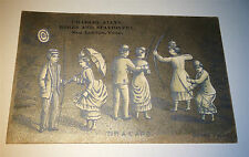 Antique Victorian American Ladies with Bows & Arrows Advertising CT Trade Card!