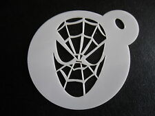 Taglio laser piccola Spiderman DESIGN CAKE, biscotti, CRAFT & Face Painting Stencil