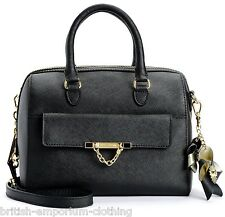 JUICY COUTURE Black SAFFIANO Leather BRENTWOOD Duffle Bag BNWT