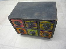 Antique/Old Wooden Hand Made Chest of Drawers Jewellery Trinket Box