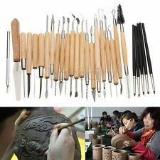 27 Silicone Rubber Shapers Clay Sculpting Carving Fimo Modelling Hobby Tools Set