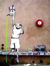 Banksy Reach Power Line Switch A3 Photo Print Poster