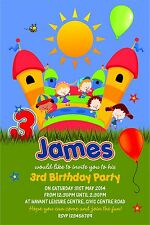 Personalised Birthday Invitations Bouncy Castle Party x 5