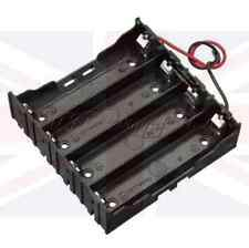 NEW PLASTIC BATTERY STORAGE 4 SLOT CASE SERIAL BOX HOLDER for 4 x 18650 LEADS UK