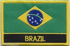 Brazil Flag Embroidered Patch Badge - Sew or Iron on