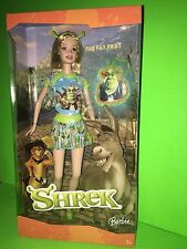 NEW BARBIE SHREK DOLL SHREK SHIRT, SKIRT  BACKPACK & HEADBAND EARS