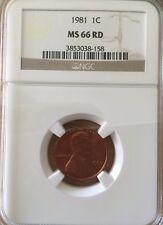 1981 Lincoln Cent NGC MS66 RD