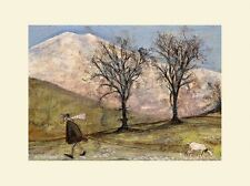 Sam Toft  - Walking With Mansfield - 30X40CM - Mounted Print