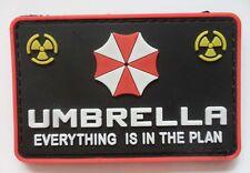 Resident Evil Umberlla LOGO PVC 3D Rubber Velcro Patch SK  197