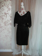 Designer Alberto Makali Ladies Size 10 Pure Silk Black Evening Party Dress BNWT