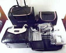 Mary Kay 2 Piece Rolling Organizer Luggage Case w/2 Totes, Accessories & Samples