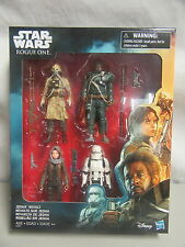 Star Wars Rogue One Jedha Revolt 4 Figure Set Jyn Stormtrooper - Disney Hasbro