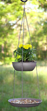 Bird Feeder & Planter OR Fruit & Vegetable Holder Two Tier Hanging w/Hook~ 31.5""