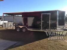 NEW 2016 8.5X24 8.5 X 24 V NOSE ENCLOSED CARGO + UTILITY HYBRID PORCH TRAILER