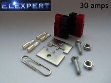 4 X ANDERSON POWERPOLE 30AMP ELECTRICAL CONNECTOR PANEL MOUNT KIT FOR KIT CAR_RC