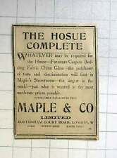 1922 Maples Showrooms Of Taste And Discrimination For The Complete Hosue!