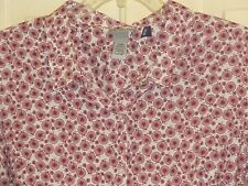 WOMENS CATHERINES BLOUSE SHIRT 2XWP 2X PETITE NWT BUTTON FRONT TRICYCLES LONG SV