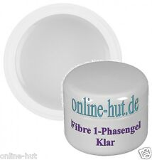 50ml Fibre 1-Phasengel mit Fiberglasgel in Klar, mittelviskos, UV Gel, 3 Phasen