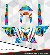 SLED WRAP DECAL STICKER GRAPHICS KIT FOR SKI-DOO REV MXZ SNOWMOBILE 03-07 SA0514