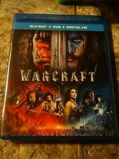 Warcraft (Blu-ray/DVD, 2016, Includes Digital Copy)with slip cover New