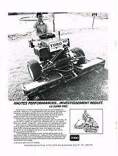 PUBLICITE   1972   TORO   tondeuse SUPER PRO