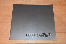 !! Prospekt Ferrari 412 brochure catalogue SEHR SCHÖN 1988 !!