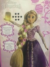 "Disney Store Rapunzel Deluxe Feature 16"" Doll Tangled Lights Up and Sings - New!"