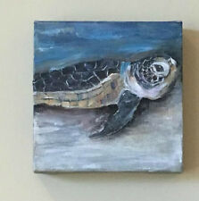 oil painting of a Sea Turtle by Mona Hugghins a Ponte Vedra Beach painter