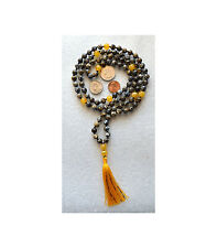 Blue Ocean Jasper Hand Knotted Mala Beads Necklace