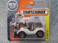 Matchbox 2016 #047/125 Mbx Tkt GOLD + ESTUCHE de construcción crema Tractor Arado Mbx F