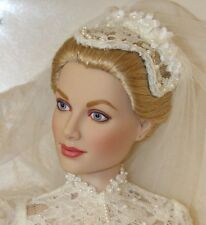 Franklin Mint Princess Grace Wedding Bride Vinyl Doll Complete NRFB Kelly w COA