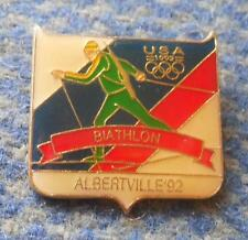 NOC USA OLYMPIC ALBERTVILLE 1992 BIATHLON PIN BADGE