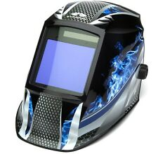 PYRAMEX WHAM3030FM AUTO DARKENING Digital Welding Hood BLUE FIRE DESIGN