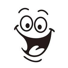 Animados Extraíble Sonrisa Cara Baño Closestool Pegatinas de Pared Calcomanía