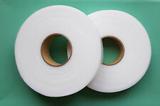 2xIRON ON PREMIUM QUALITY HEMMING WEB 25MM WIDE 100MTR ROLL FREE P&P ONLY £8.99