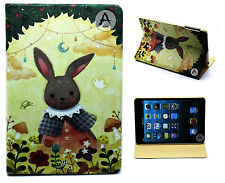 For New iPad Mini 1 2 3 Animation Bunny Design Leather Flip Smart Case Cover