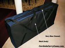 Cornhole Boards Carry Case Bags Game Storage Black Navy Blue