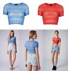 TOPSHOP Bobble Lace Fitted Stretch Crop Top Size 6 8 10 12 14 16 FREE P&P NEW A2