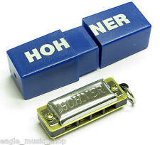 Hohner Mini Harp Playable Harmonica Great Novelty Gift with Plastic Case