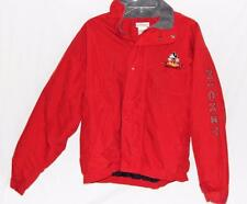 Vintage Disney Store Men's Mickey Mouse Solid Red Nylon/Polyester Jacket Size M