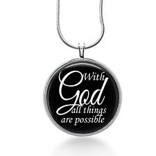 Elegant With God Necklace - With God all things are possible - Inspirational