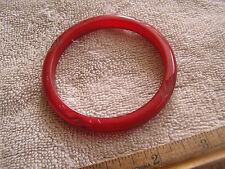 Beautiful Vintage Red Carved Bakelite Bracelet
