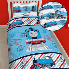 Thomas THE TANK ENGINE Avventura Singolo Reversibile Copripiumino QUILT COVER * Nuovo Design *