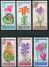 HUNGARY 1966 FLOWERS SET OF 6 STAMPS COMPLETE!