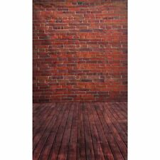 3x5FT Retro Red Brick Wall Backdrop Studio Vinyl Photography Props Background